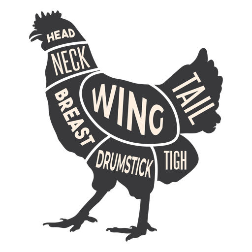 Chicken meat silhouette Transparent PNG