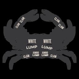 Krabbenfleisch Silhouette
