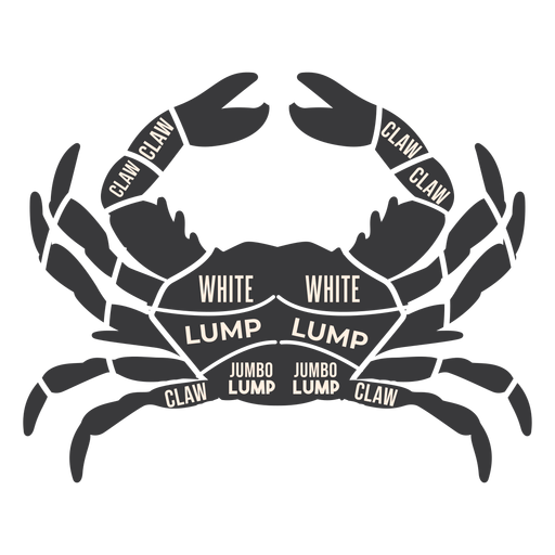 Crab meat silhouette