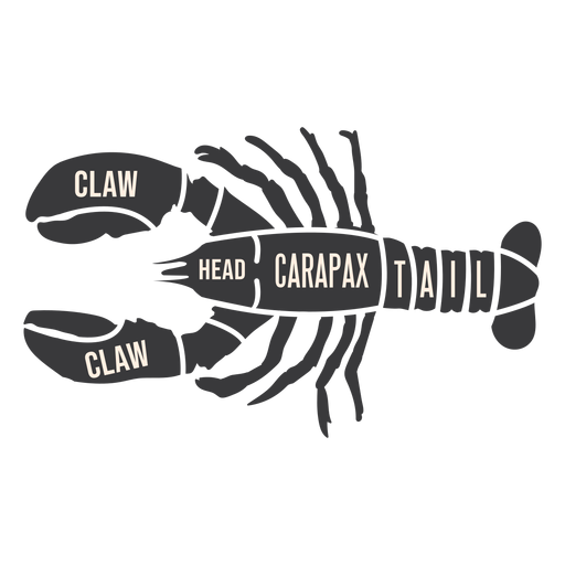 Crawfish crayfish lobster meat silhouette