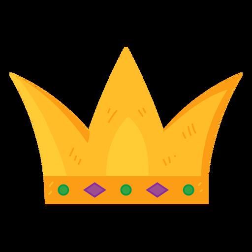 Corona monarquía oro gema plana Transparent PNG