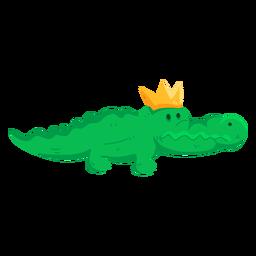 Linda corona cocodrilo cocodrilo cola plana