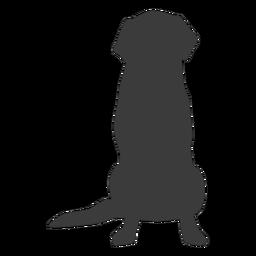 Perro cachorro oreja cola silueta