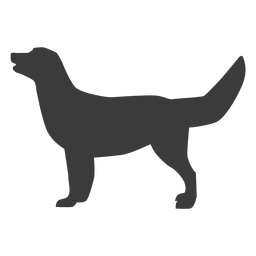 Dog puppy tail ear silhouette