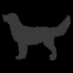Perro cachorro cola oreja silueta