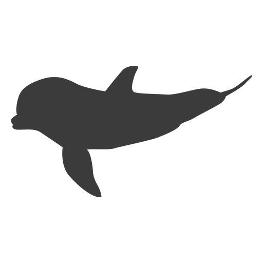 Delfín aleta cola silueta animal Transparent PNG