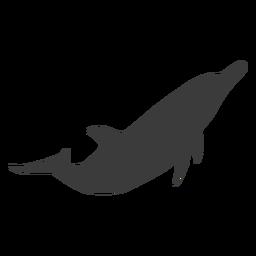 Cola de delfín aleta silueta animal