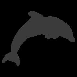 Aleta cola de delfín nadando silueta