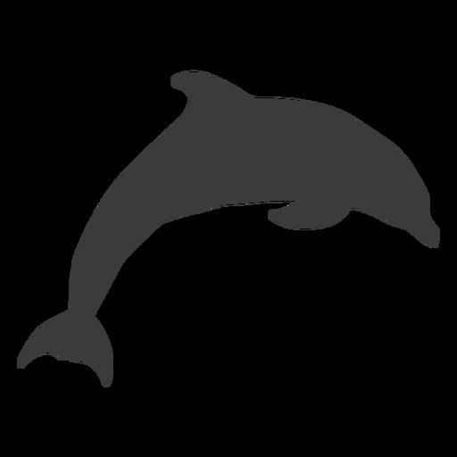 Aleta cola de delfín nadando silueta Transparent PNG