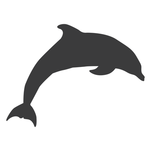 Dolphin tail flipper swimming silhouette Transparent PNG