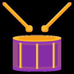 Drum drumstick music flat