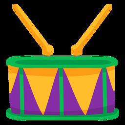 Drumstick drum music flat