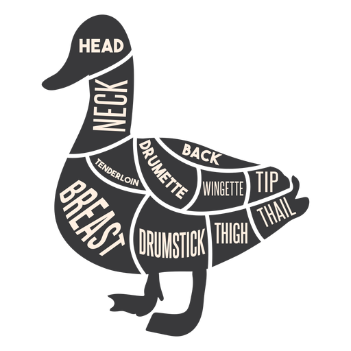 Duck meat silhouette