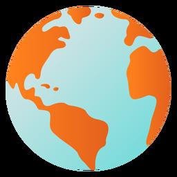 Erdplanetenkugel Amerika Afrika flach