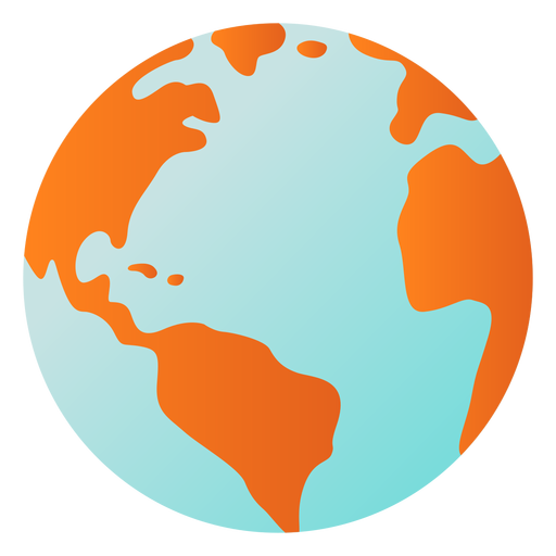 Earth planet globe america africa flat Transparent PNG