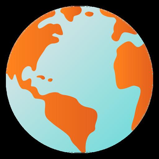 Planeta terra globo américa áfrica plana Transparent PNG