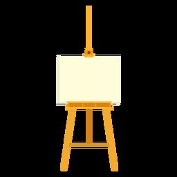 Easel canvas tripod flat