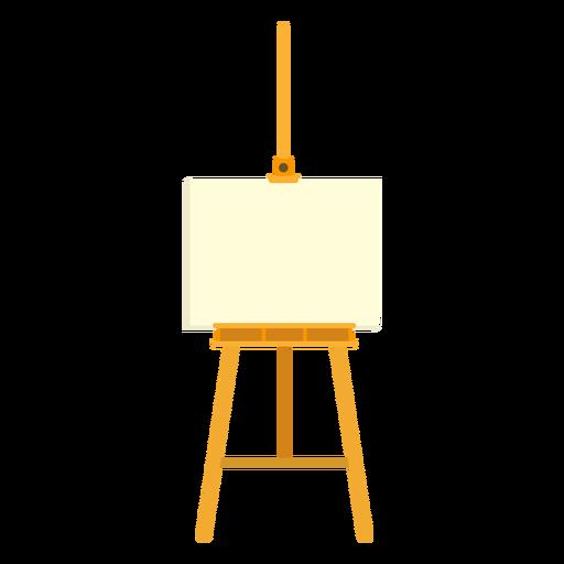 Easel canvas tripod flat Transparent PNG