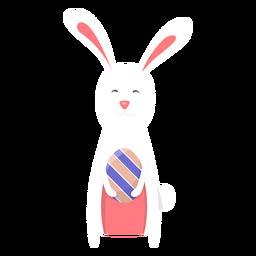 Huevo conejito pascua plano