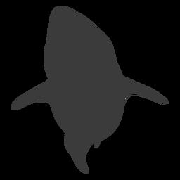 Silueta de cola de tiburón de aleta