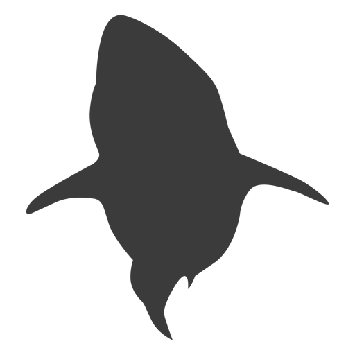 Fin shark tail silhouette Transparent PNG