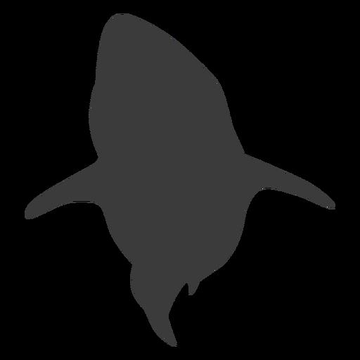 Silueta de cola de tiburón de aleta Transparent PNG