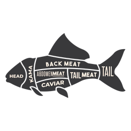 Fish meat silhouette
