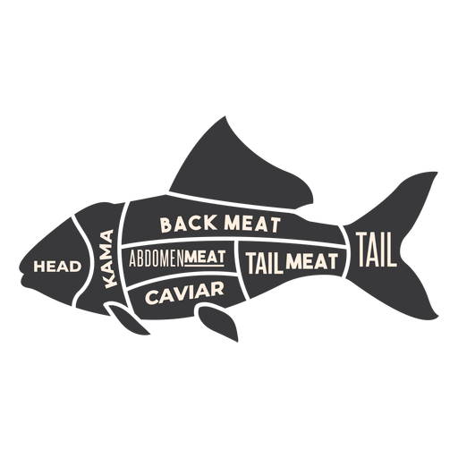 Fish meat silhouette Transparent PNG