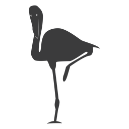 Flamingo pink beak leg silhouette bird