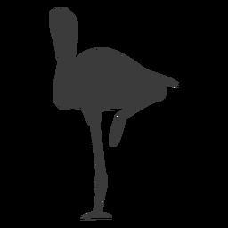 Flamingo rosa pico pierna silueta pájaro