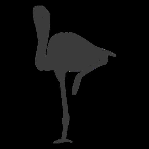 Flamingo rosa pico pierna silueta pájaro Transparent PNG