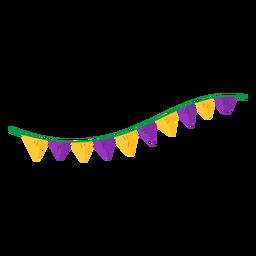 Triângulo de festão plano
