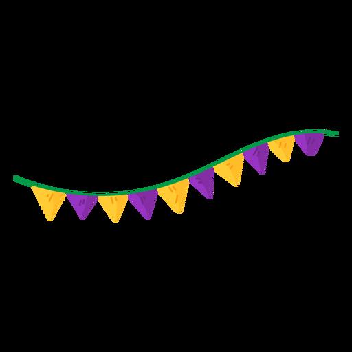 Garland triangle flat Transparent PNG