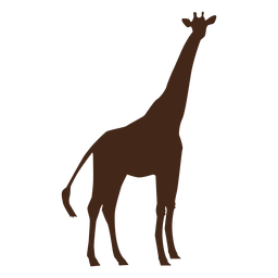 Giraffe neck tall long ossicones silhouette