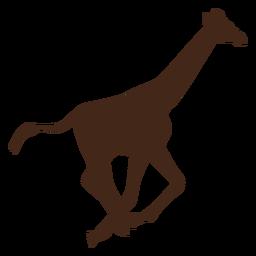Girafa pescoço alto cauda longa silhueta