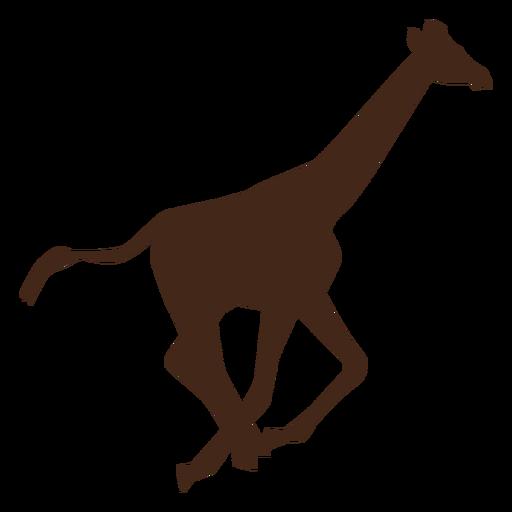 Giraffe neck tall long tail run silhouette Transparent PNG