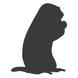 Marmota de cerdo molida silueta