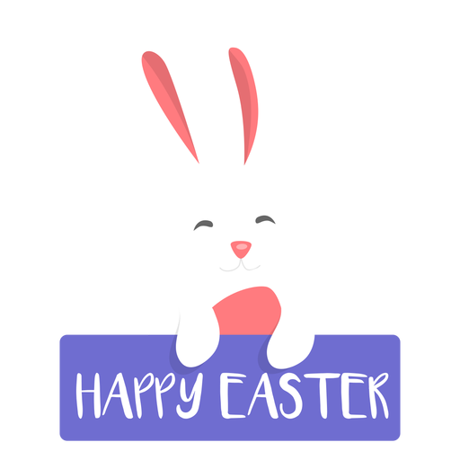 Happy easter bunny easter flat Transparent PNG