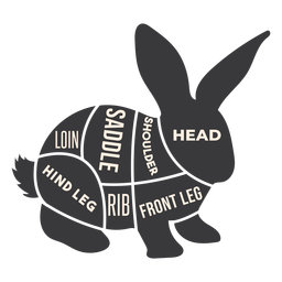 Hare rabbit bunny meat silhouette