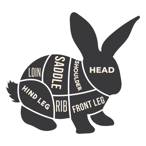 Hare rabbit bunny meat silhouette Transparent PNG