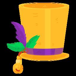 Sombrero cinta hoja abalorios plano