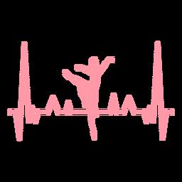 Latido del corazón cardiograma bailarina trazo