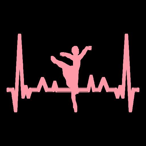 Heartbeat ballerina cardiogram stroke Transparent PNG