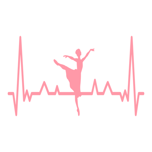 Latido del corazón cardiograma bailarina trazo Transparent PNG