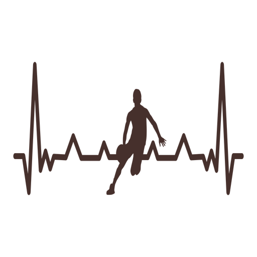 Golpe de corazón de jugador de baloncesto cardiograma Transparent PNG