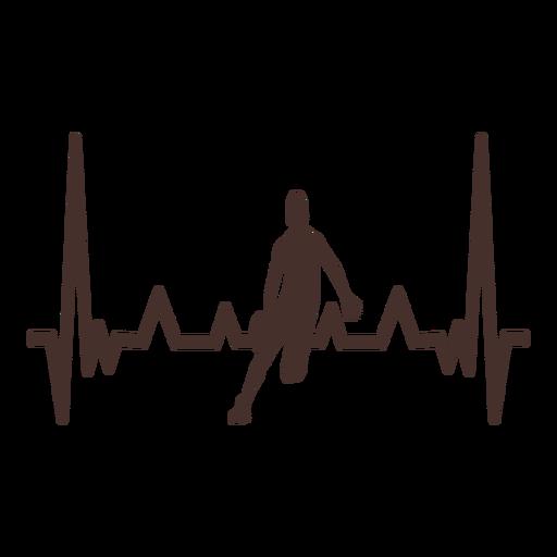 Golpe de corazón de jugador de baloncesto cardiograma