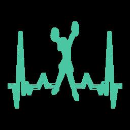 Curso de cardiograma de cheerleader de batimento cardíaco
