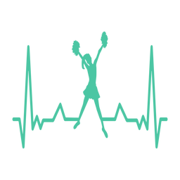 Herzschlag-Cheerleader-Kardiogramm-Schlaganfall