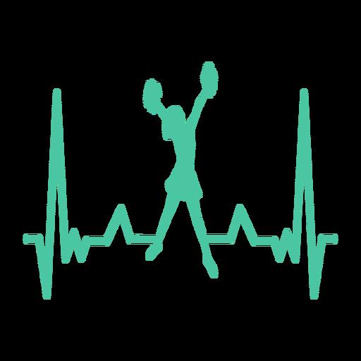 Cardiograma del animador del latido del corazón Transparent PNG