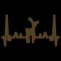 Latido del corazón corzo de los ciervos cardiograma trazo